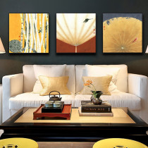 Retro Lotus Classical Chinese Style Living Room Wall Painting