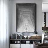 Nordic Black And White Abstract Modern Minimalist Hanging Paintings