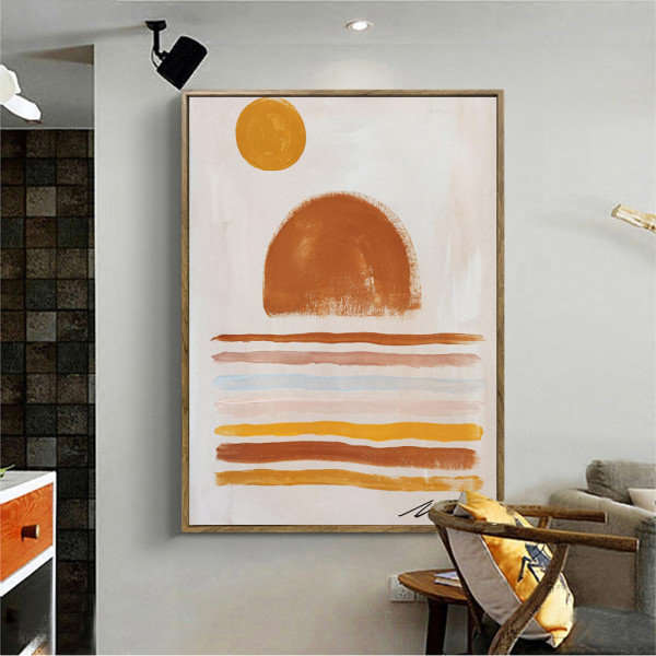 Nordic Style Living Room Decorative Painting Abstract Art Mural