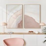 Postmodern Minimalist Living Room Decoration Painting Seaside Landscape Painting