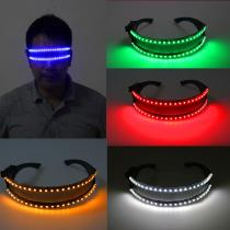 LED Glasse Laser Gloves for Nightclub Nerformers Party Dancing Glowing Spiderman Mask Glasses