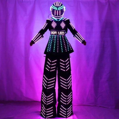 Women Robot Suit LED Stilt Skirt Kryoman Robot Suit Event Trajes De Used with  Laser Gloves