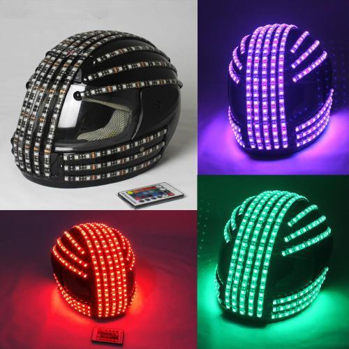 RGB Color LED Helmet Monster Luminous Hat Dance Clothes DJ Helmet