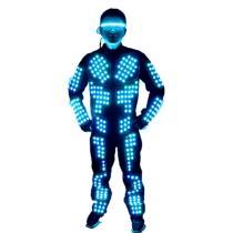 LED Robot Suits Luminous Jacket Laser Suit Fashion Coat for EDM Music Festival Costumes