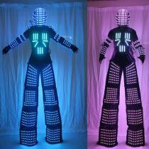 Stilts Walker RGB LED Lights Dancer Costume Colorful Led Robot Men Suit Performance Electronic Music Festival DJ Show Clothes