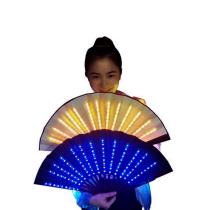Single Color LED Fan Stage Performance Dancing Lights Fans Bar Nightclub EDM Fluorescent Party Performance Props Gift