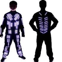 LED Single Color Tron LED Robot Suit LED Clothing Luminous Dance Costume
