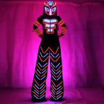 LED Robot Suits Luminous Costume David Guetta LED Robot Suit Illuminated Kryoman Robot Led Stilts Clothes