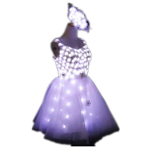 Bride Light Up Luminous Clothes LED Costume Ballet Tutu Led Dresses for Dancing Skirts Wedding Party