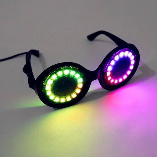 Pixel Pro LED Goggles Kaleidoscope Lenses Over 350 Modes Intense Lights  LED Glasses