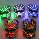 Led Luminous Halloween Ghosts Mask Illuminate Stage Performance Headwear Green Laser LED Glasses Party Masquerade Masks