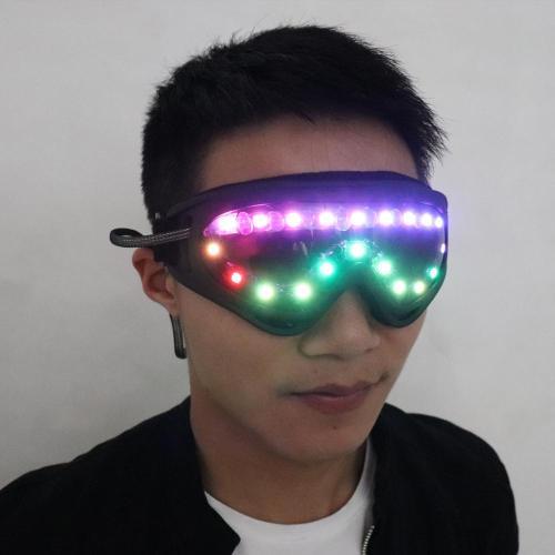 Full-color Smart Pixel LED Glasses Luminous Party Sunglasses