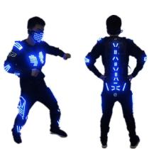 Color Led Light Up Robot Suit With Led Armor Luminous Dancing Stage Dance Wear