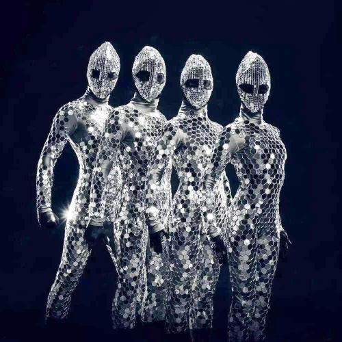 Mirror Costume Women Men Mirror Dress Stage Costume Ds Party Performance Nightclub Jumpsuit
