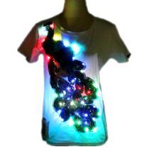 Colorful LED Flashing T-Shirt Light Up Down Music Party Equalizer Unisex LED Short Sleeve Ballet TuTu Skirt