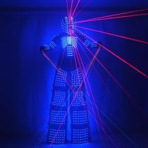 LED Robot Suits Robot Costume David Guetta LED Robot Suit with Laser Helmet Gloves  Illuminated Kryoman Robot Led Stilts Clothes