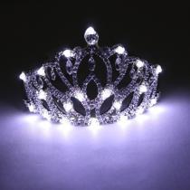 Blinking Hair Band LED Crown Headband Flashing Luminous Headwear Supplies Rhinestone Crown