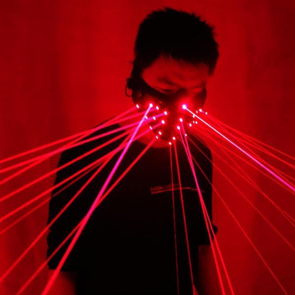 Red Laser Mask Light Up Party Masks Neon Maska Cosplay Mascara Horror Mascarillas Glow In Dark Masque V