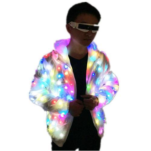 LED Luminous Couple Suit Unisex LED Luminous Jacket Christmas Halloween Party Cospaly Costume