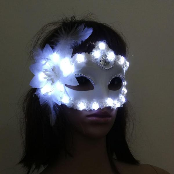Led Luminous Mask Horror Grimace Bloody EL Wire Christmas Carnaval Party Club Bar DJ Glowing Full Face Mask