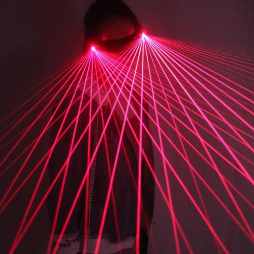 Red Laser Glasses 650nm LED Gloves for Pub Club DJ Shows with RED Laser LED Stage Glasses