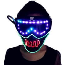 Full Color Smart Pixel Led Mask Halloween Party Masque Masquerade Masks Cold Light Helmet