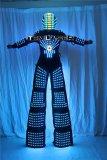 LED Robot Suit Clothes  Stilts Walker  Light Suits Kryoman Robot David Guetta with Helmet Laser Gloves