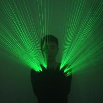 2 In 1 Multi-line Green Laser Gloves LED Laser Gloves Luminous Glasses, for LED Robot Suit Luminous Dress Bar Party Music Festiv