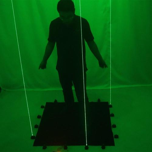 Green Laser Dancing Mat  LED Luminous Small Stage,Laser Rain Northern Lights Stage Performance Lighting Props
