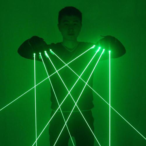 High Quality Green Laser Gloves Nightclub Bar Party Dance Singer Dance Props DJ Mechanical Gloves