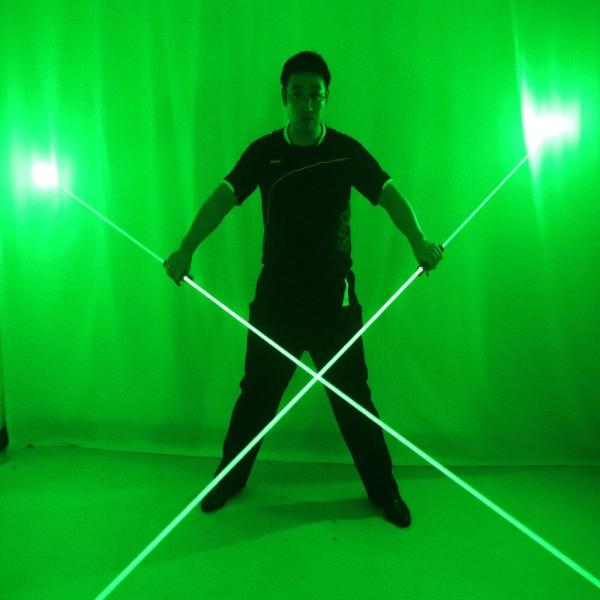 Mini Dual Direction Green Red Bule Laser Sword For Laser Man Show Double Headed Wide Beam Laser