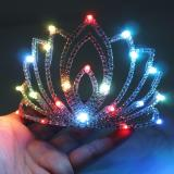 Ballroom Dance Led Costumes Luminous Crown Wedding Party Stage Costumes Singer Dj Led Headwear Valentine's Day Girl Gift