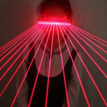 650nm Red Laser Glasses Party LED Sunglasses 18pcs Laser Influx of People Stage Flashing Glass Gogo Show Supplies