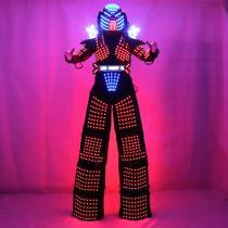 Traje De Robot LED Stilts Walker LED Light Robot Suit Costume Clothing  Event Kryoman Costume Led Disfraz De Robot