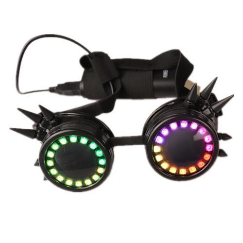 Full-color Smart Pixel LED Glasses, Luminous Party Sunglasses Over 350 Modes Intense Lights