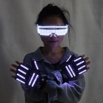 New Design LED Light Emitting Costumes LED Luminous Glasses Gloves Stage Props For Children Birthday Gift