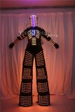 Traje LED Robot Costume Led Clothes Stilts Walker Costume LED Suit Costume Helmet Laser Gloves CO2 Jet Machine