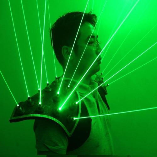 Green Laser Suit LED Vest Luminous Waistcoat 532nm Green Laser Gloves Glasses For Laser Show