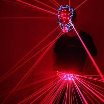 Red Laser Belt LED Glowing Girdle  Dance Clothing  Laser Man Vest Suit