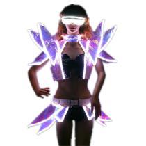 LED Costumes Ballroom Dance luminous Nightclub Clothing Illuminate Flashing stage LED Vest Shoulder