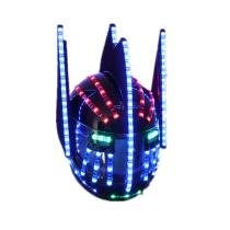 LED Helmets Fashion Luminous Flashing Marquee Glowing Helmet Waterfall Flow LED Robot Helmet Suits Accessories