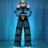 Traje De Robot LED Stilts Walker LED Light Robot Suit Costume Clothing  Event Kryoman Costume Led Disfraz De Robot