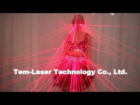 Red LED Clothes Laser Suits Laser Bra Sexy Girl Laser Glasses for Nightclub Performers