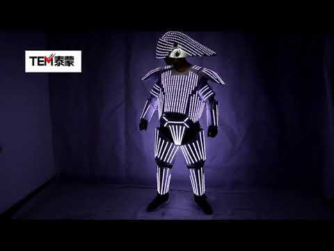 New Style White LED Robot Suit  Led Lights Costumes Clothing Star Wars White Soldiers Cosplay Performance Clothing