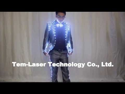 Led Tuxedo Stage Performance Ballroom Costumes Clothes Party Luminous Singer Dance Wear With Led Glasses