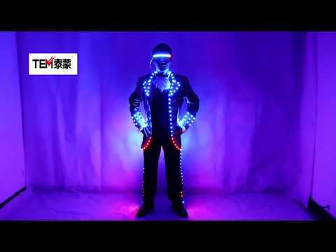 LED Court Suits Symphony of Light-emitting Tuxedo Full-color Digital Pixel LED Running Horse 350 Kinds of Effects