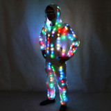 LED Luminous Couple Suit Unisex LED Luminous Jacket Christmas Halloween Party Cospaly Costume