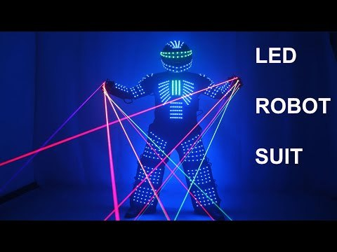 LED Robot Costume Robots Clothes DJ Traje Party Show Glow Suits  for Dancer Party Performance Electronic Music Festival DJ Show