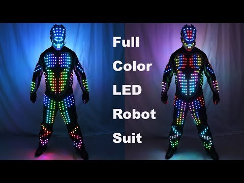 Digital LED Luminous Armor Light Up Jacket Glowing Costumes Suit Bar Party Costume