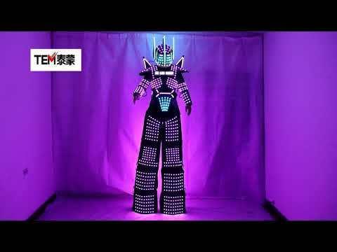 LED Light Suits Robot Clothes LED Stilts Walker Costume LED Robot Suits Party Ballroom Disco Nightclub Stage Robot Dress Show
